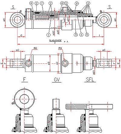 Dobbeltvirkende teleskopcylinder